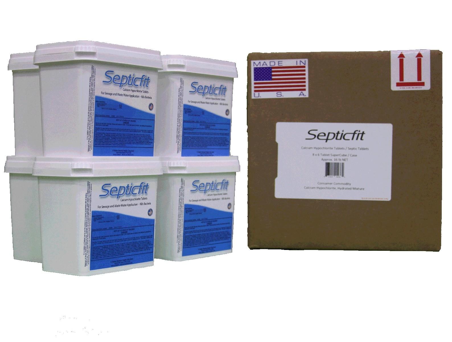 Septicfit® Calcium Hypochlorite Tablets 16.4 lb SuperCube 8 Pack