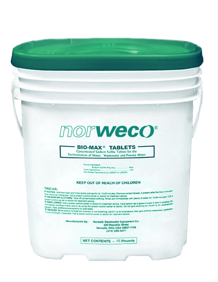 Norweco Bio-Max Dechlorination Tablets 48lb