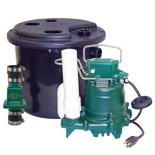 Zoeller 105-0001 - 1/3 HP (M53) Remote Sink/Drain Pump System w/ Vertical Float Switch