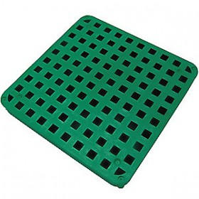 """Tuf-Tite 11""""x11"""" B1-DGG: Drain Grate (Green) - For 4 Hole Distribution Boxes"""
