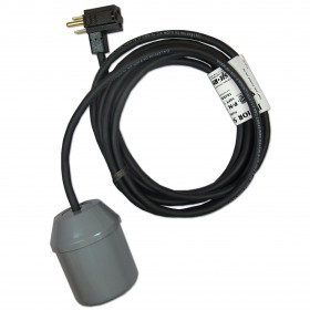 "SJE Rhombus Junior Super Single Pump Float Switch With ""Piggyback Plug"" 10Ft (1001896) (Normally Open/Pump Down)"