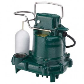 Zoeller M53 Mighty-Mate - 1/3 HP Cast Iron Submersible Sump Pump w/ Vertical Float Switch